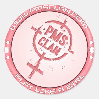 PMSのステッカーのピンクのロゴ2 ラウンドシール