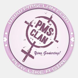 PMSのステッカーの紫色のロゴ2 ラウンドシール