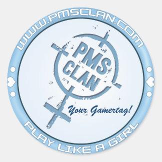 PMSのステッカーの青いロゴ2 ラウンドシール