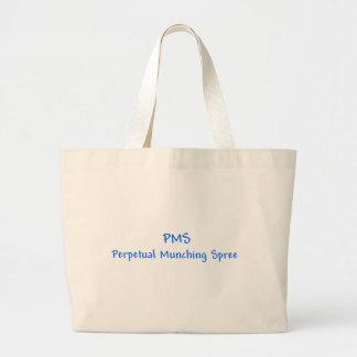 PMSの永遠の食べる酒宴のトートバック ラージトートバッグ