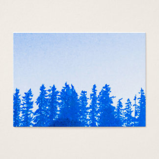 PNWの木の(青い)ぽっちゃりした名刺 名刺