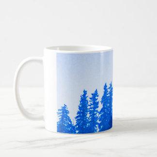 PNWの木の(青い)マグ コーヒーマグカップ