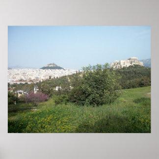 Pnyxからのアクロポリスの眺め ポスター