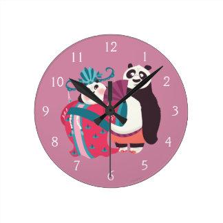 PoおよびMei Mei ラウンド壁時計