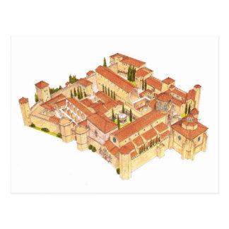 Poblet修道院。 カタロニアスペイン ポストカード