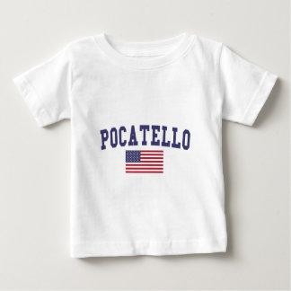 Pocatello米国の旗 ベビーTシャツ