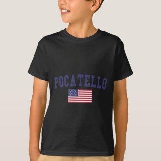 Pocatello米国の旗 Tシャツ