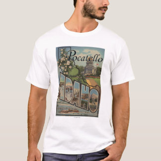 Pocatello、アイダホ-大きい手紙場面 Tシャツ