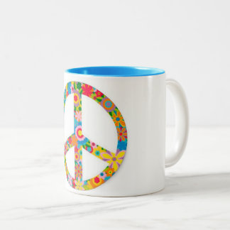 podmodify.comのコーヒー、茶、平和及び私マグ ツートーンマグカップ