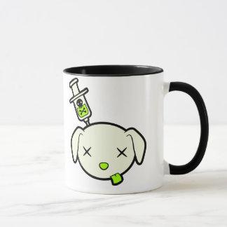 Poeさようなら子犬のロゴのマグ マグカップ