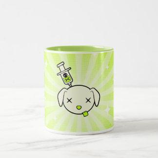 Poeの破烈のコーヒー・マグ-緑 ツートーンマグカップ