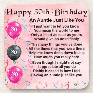 Poem伯母さんの第30誕生日 コースター