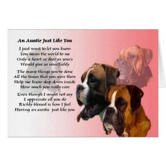 Poem -ボクサー犬伯母さん カード