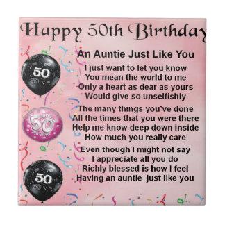 Poem -第50誕生日伯母さん タイル