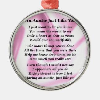 Poem Pink Silk伯母さん メタルオーナメント
