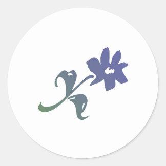 Poeticaの青の花 ラウンドシール