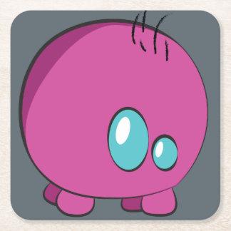 Pogo O.oのカスタムなピンクのコースター スクエアペーパーコースター