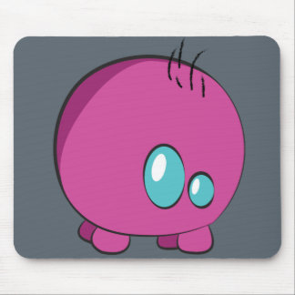 Pogo O.oのカスタムなピンクのマウスパッド マウスパッド