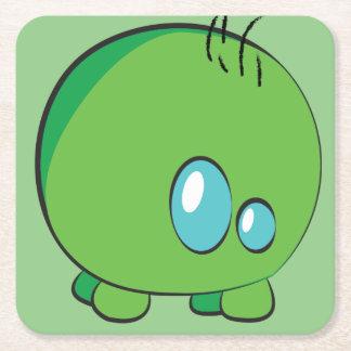 Pogo O.oのカスタムな緑のコースター スクエアペーパーコースター