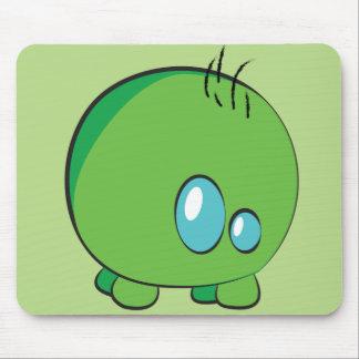 Pogo O.oのカスタムな緑のマウスパッド マウスパッド