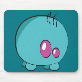 Pogo O.oのカスタムな青緑色のマウスパッド マウスパッド