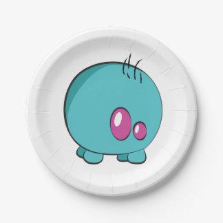 Pogo O.oの青緑色のカスタムな紙皿 紙皿 小