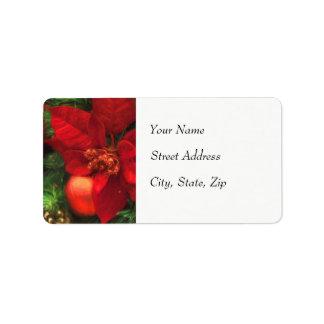 Poinsettia Beauty Address Label ラベル