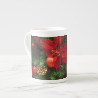 Poinsettia Beauty Mug ボーンチャイナカップ