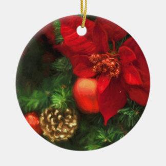 Poinsettia Beauty Ornament セラミックオーナメント