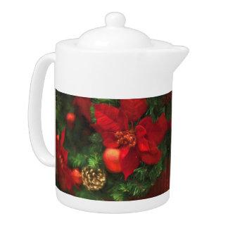 Poinsettia Beauty Teapot