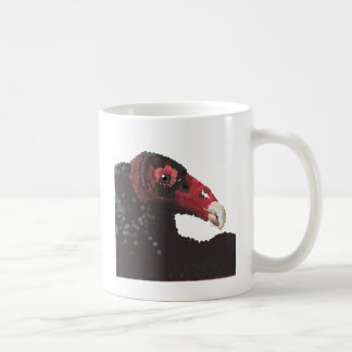 pointillizedハゲタカの頭部 コーヒーマグカップ