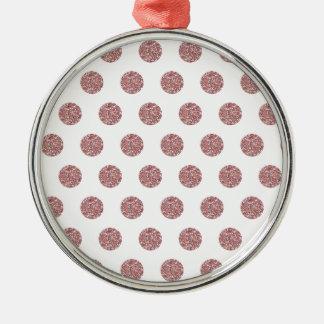 Pokaの魅力的なピンクの点 メタルオーナメント