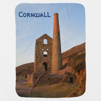 Poldarkの国鉱山はコーンウォールイギリスを台無しにします ベビー ブランケット