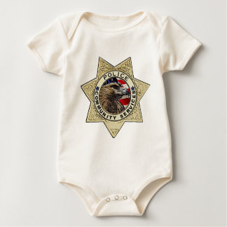 Police_Badge_Community ベビーボディスーツ