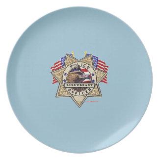Police_Badge_Officer - Lt プレート