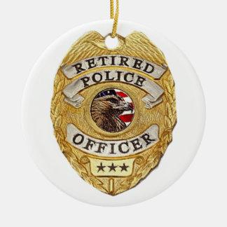 Police_Badge_Retired セラミックオーナメント
