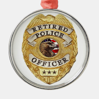 Police_Badge_Retired メタルオーナメント