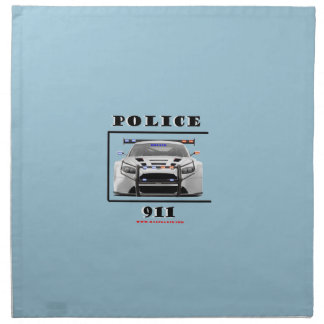 Police_Car_911 ナプキンクロス
