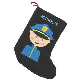 Police Officer - Law Enforcement - Cartoon スモールクリスマスストッキング