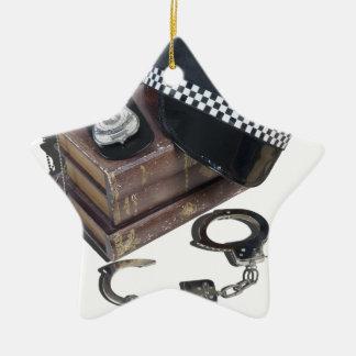 PoliceCrimeBooksHatBadgeHandcuffs042113.png セラミックオーナメント