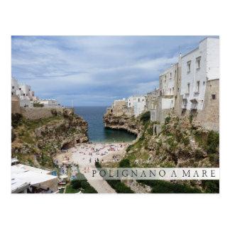 Polignano Pugliaのバーの郵便はがきのロバ都市ビーチ ポストカード