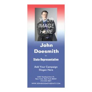 Politcalの選挙運動の棚カードテンプレート ラックカード