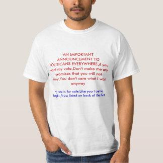 POLITICANS EVERYWHへの重要な発表… Tシャツ