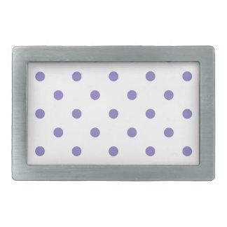 Polksの小さい点-白のUbe 長方形ベルトバックル