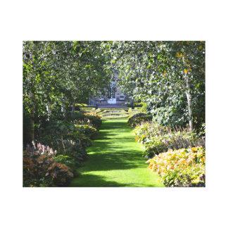 Pollokの家の庭、グラスゴー、スコットランド キャンバスプリント
