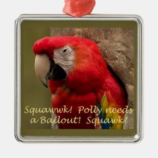 Pollyは脱出を必要とします! メタルオーナメント