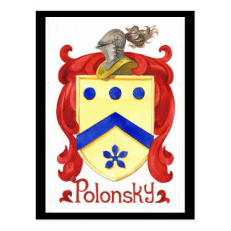 Polonskyの家紋 ポストカード