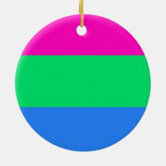 Polysexualのプライドの旗 セラミックオーナメント