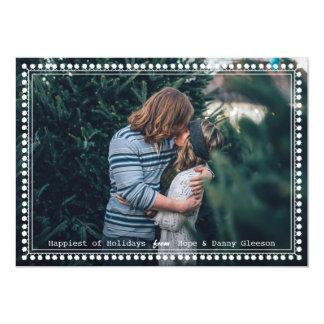 PomのPomによって組み立てられるシンプルな休日の写真カード カード