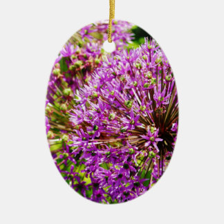 Pom紫色のPomの花 セラミックオーナメント